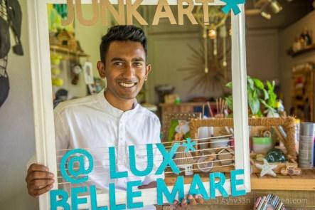 Lux Belle Mare Mauritius - Junk Art - Artist Ruben