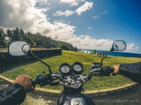 Road Trip Mauritius - Gris Gris - Haojue 125