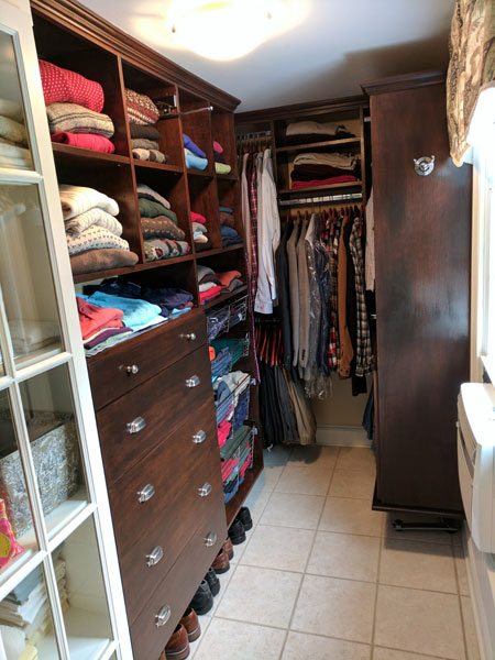 Walk In Closet, Comapartmentalized With 3 Sections