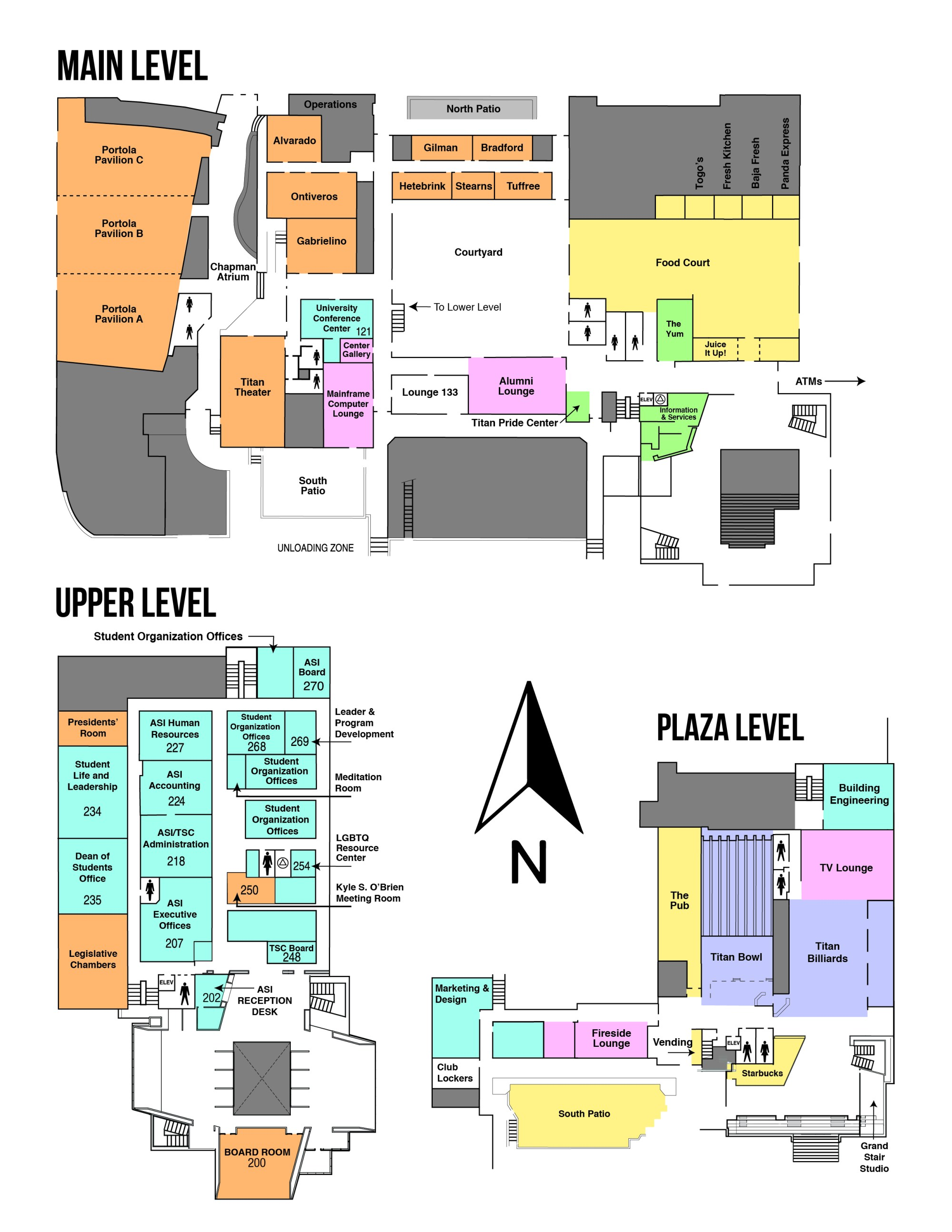 hight resolution of map of the titan student union
