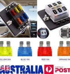 au 6 way blade fuse box block led indicator positive negative fr 32v car marine [ 1000 x 1000 Pixel ]