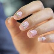 bracelet nails latest korean