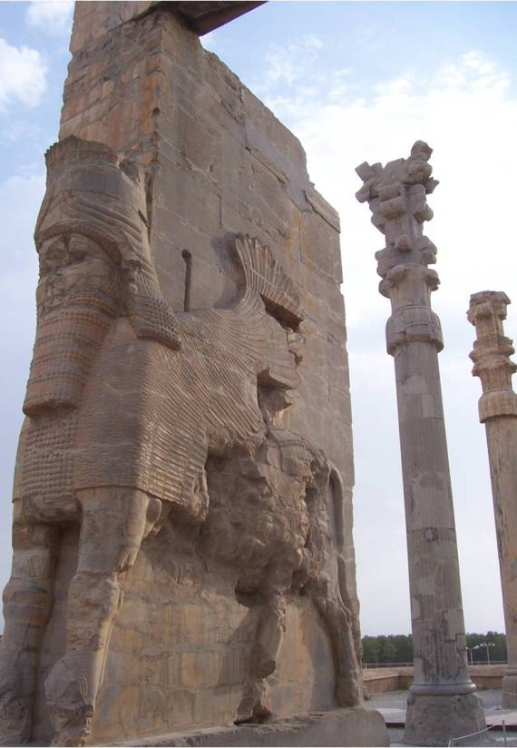 Persepolis, entrance to the citadel with the Gate of All Nations, photo Alex Nagel