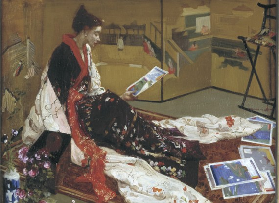 Caprice in Purple and Gold: The Golden Screen, 1864, James McNeill Whistler, F1904.75a