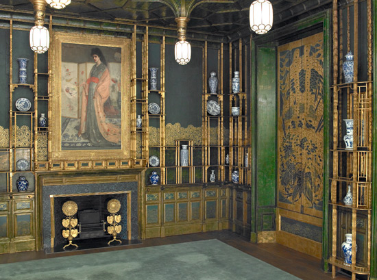View of the northeast corner of the Peacock Room.