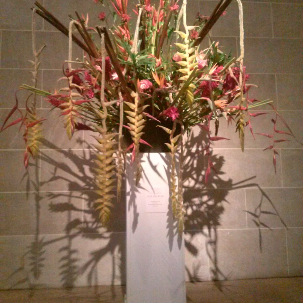Flowers in the lobby of the Sackler