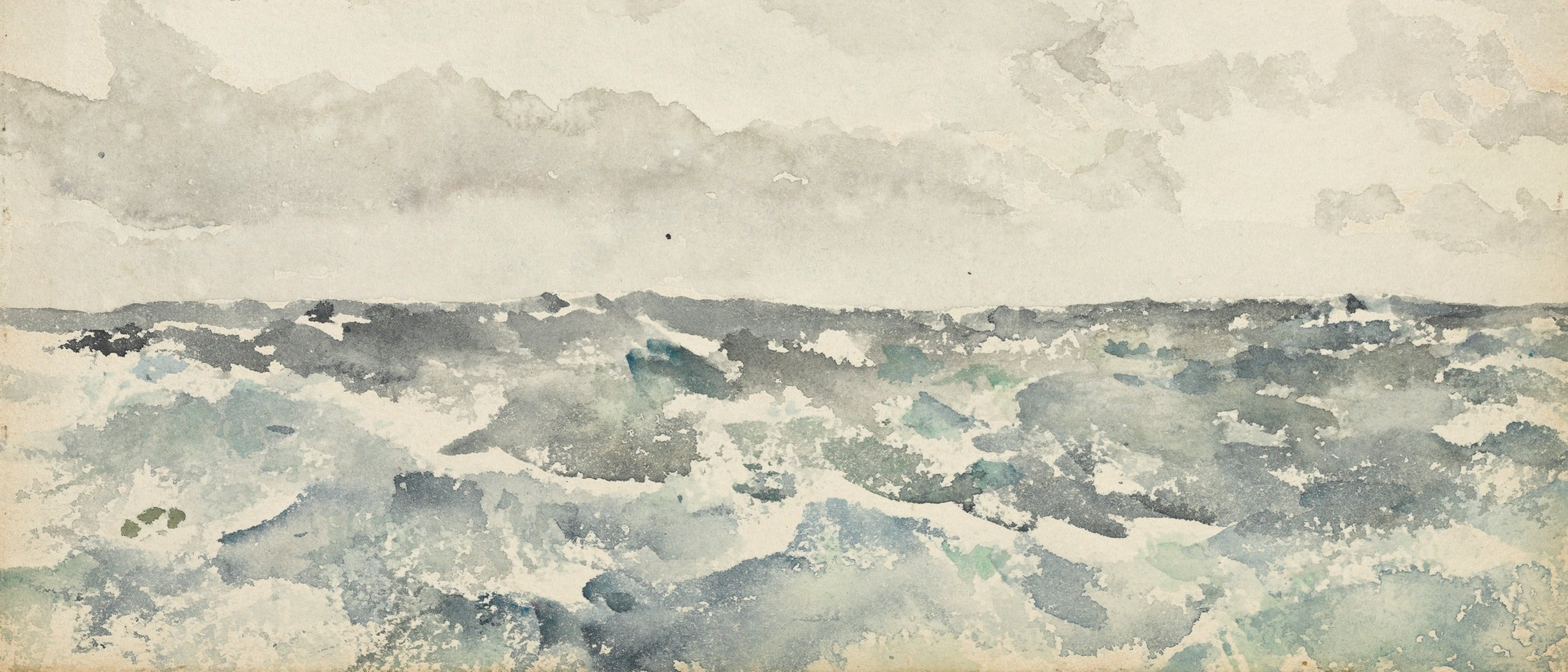 "James McNeill Whistler's watercolor ""Blue and Silver: Chopping Channel"""