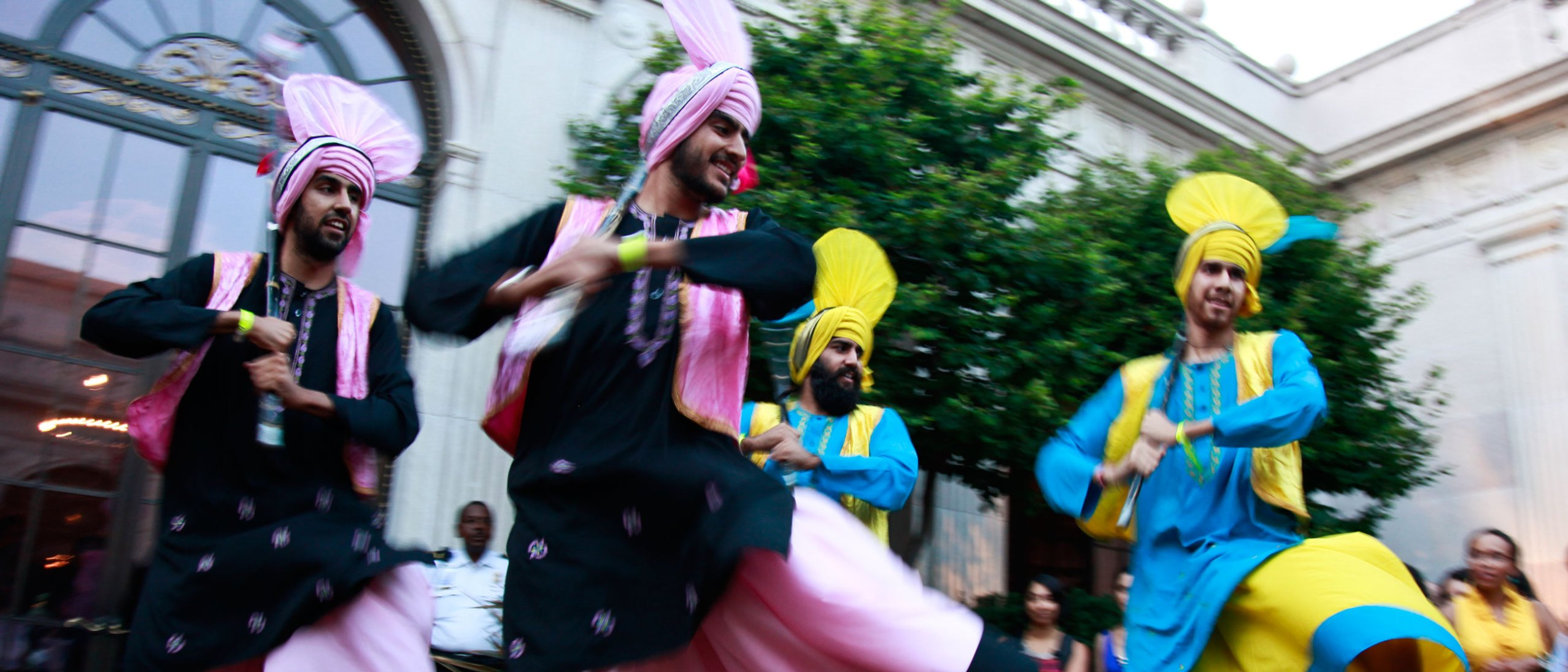 Bhangra dancers performing at an Asia After Dark event