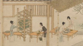 Detail image, Silk Weaving, after Lou Shou 摹樓璹〈蠶織圖; Handscroll; Attributed to Cheng Qi (傳)程棨 (active mid- to late 13th century), Formerly attributed to Liu Songnian (傳)劉松年 (ca. 1150-after 1225); China; Purchase — Charles Lang Freer Endowment; Freer Gallery of Art F1954.20