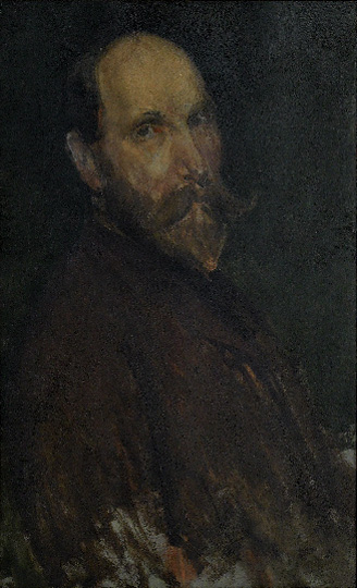 Dark painting of Freer - unfinished.