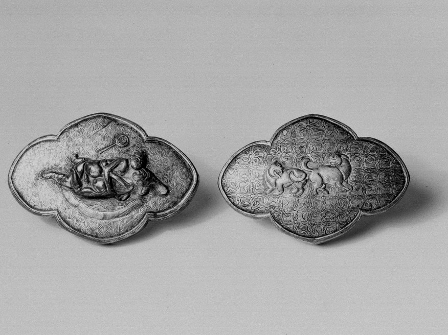 Photo, Gilt silver covered container. Yuan–Ming dynasty, 13th–17th century., L: 7.2 cm. (2 13/16 in.) Singer catalogue number: [1637].