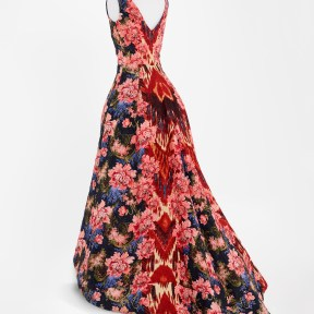 Ikat-patterned gown