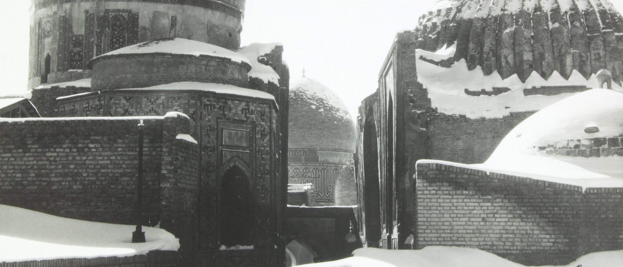 Snow-covered mosques