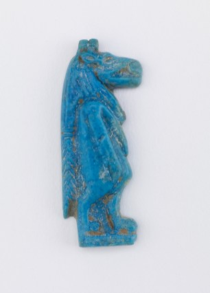 carved blue clay goddess