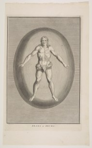 European male encased within a radiating oval