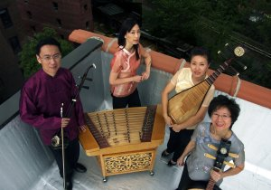 The four musicians of the Music From China ensemble