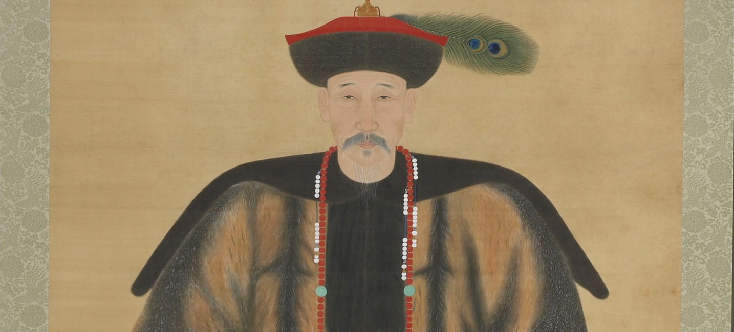 detail illustration of man in traditional chinese attire