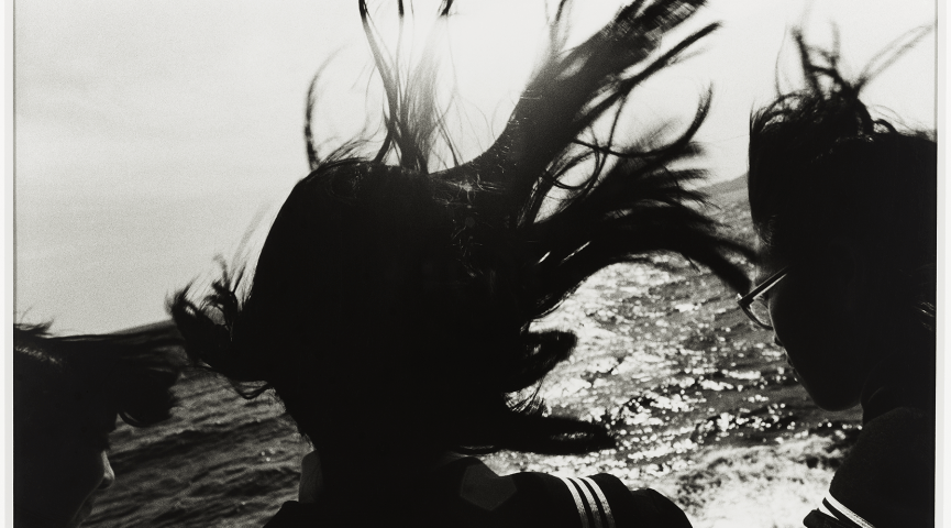 photo silhouette of a woman's hair flying in the wind