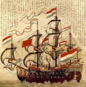 A Dutch sailing ship (http://www.archeonaut.nl/1189/trade-with-japan/)