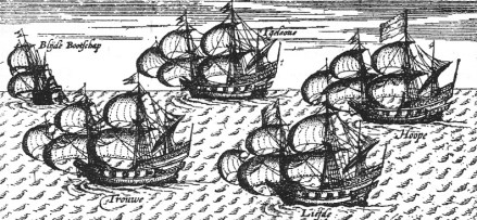 The Liefde ship is the only one which reached Japan when the Dutch sailed out 5 vessels with the goal of expanding their trading network (https://commons.wikimedia.org/wiki/File:LiefdeShip.jpg)