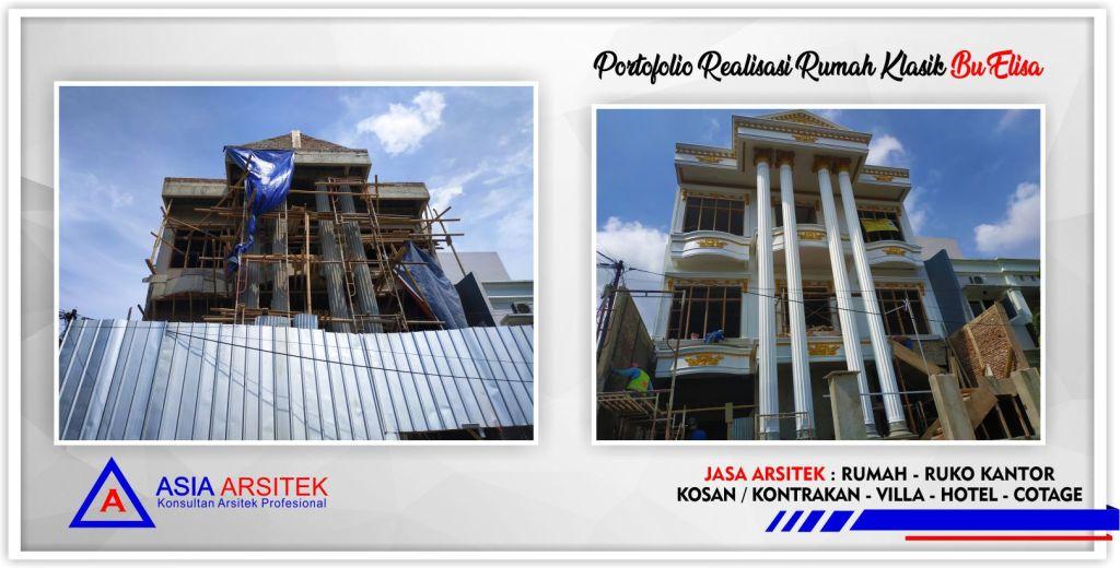 Arsitek Desain Rumah Klasik Bu Elisa Di Jakarta-Tangerang-Bogor-Bekasi-Bandung-Jasa Konsultan Desain Arsitek Profesional - Desain Rumah Mewah - Arsitek Gambar Desain Rumah Klasik Mewah
