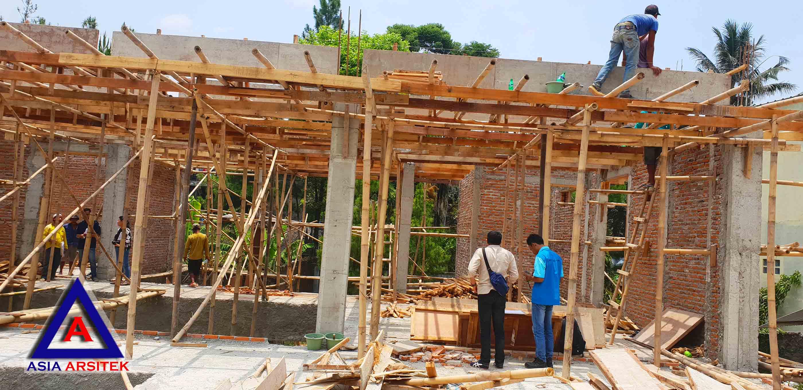 Realisasi Desain Villa Ibu Kartini Di Sentul Bogor Kunjungan November 2018