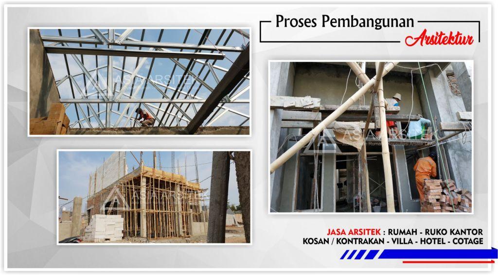 Proses pembuatan struktur bangunan