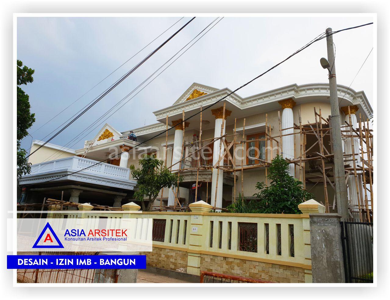 Area Fasad Rumah Klasik Mewah Bu Iis - Arsitek Desain Rumah Minimalis Modern Di Bandung-Tangerang-Bogor-Bekasi-Jakarta-Jasa Konsultan Desain Arsitek Profesional (1)