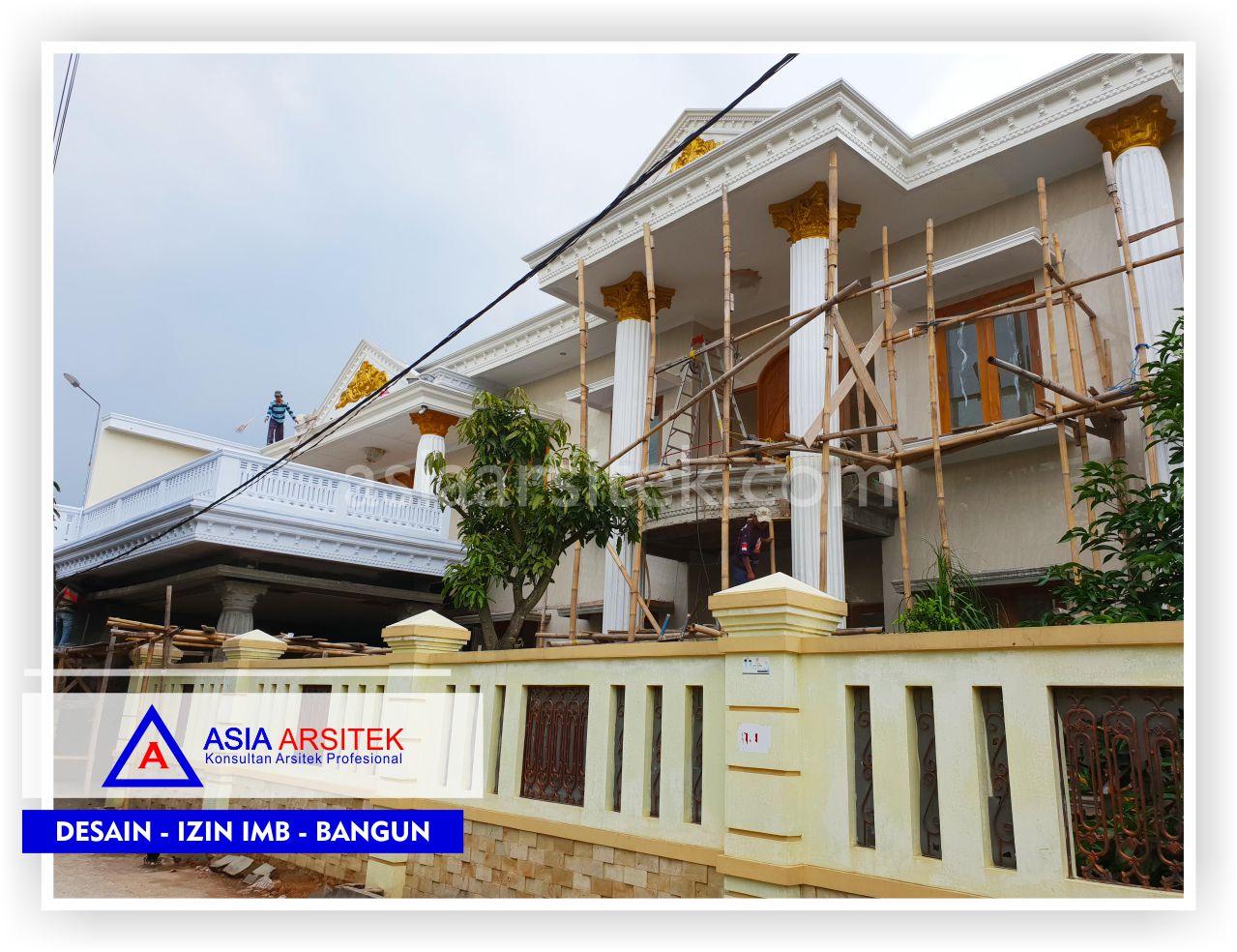 Area Fasad Rumah Klasik Mewah Bu Iis - Arsitek Desain Rumah Minimalis Modern Di Bandung-Tangerang-Bogor-Bekasi-Jakarta-Jasa Konsultan Desain Arsitek Profesional (2)