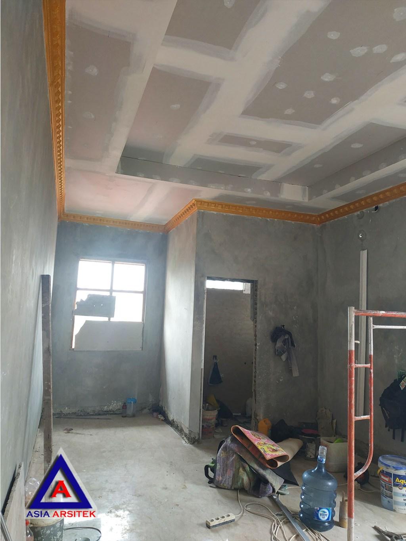 Proses Pembuatan Kerangka Plafond Jasa Desain Rumah Klasik/Classic Mewah Bu Elisa Di Jakarta Timur