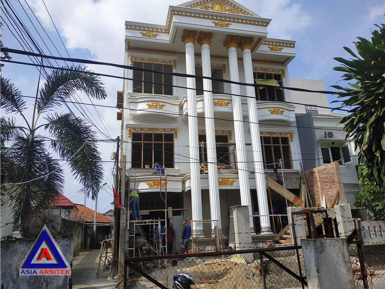 Perkembangan Tampak Depan Jasa Desain Rumah Klasik/Classic Mewah Bu Elisa Di Jakarta Timur