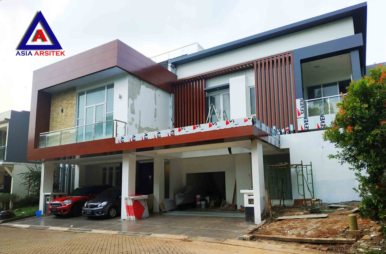 Proses Perkembangan Tampak Projek Desain Rumah Minimalis Mewah Pak Ananda Di Tangerang 29