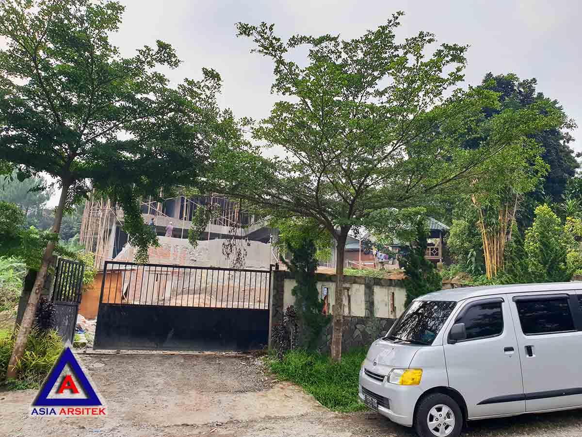 Perkembangan Tampak Depan Realisasi Desain Villa Mewah Bu Kartini Di Sentul Bogor