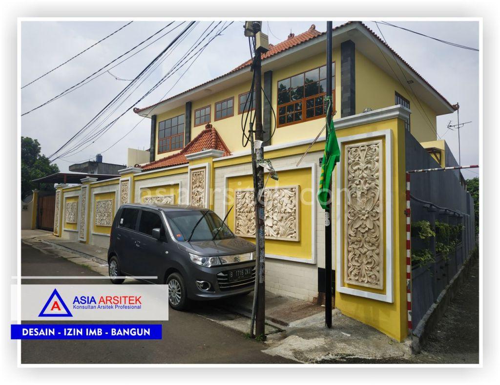 Tampak Depan Rumah Bali Semi Joglo Bpk Rudy Di Tangerang-Jakarta-Bogor-Bekasi-Bandung-Jasa Konsultan Desain Arsitek Profesional - Desain Rumah Mewah-Arsitek Gambar Desain Rumah Klasik Mewah 2