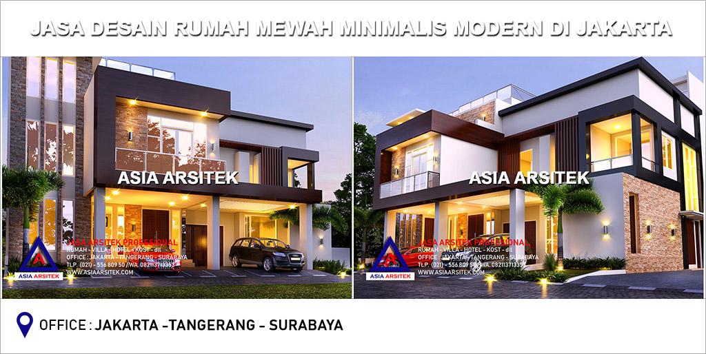 Jasa Arsitek Desain Gambar Rumah Mewah Minimalis Modern Di Jakarta