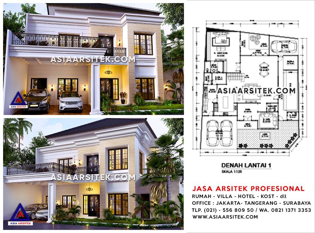 Jasa Arsitek Jakarta Barat Desain Rumah Ibu Yuti Kebon Jeruk - Jasa Desain Rumah Mewah - Asia Arsitek - cvr