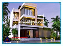 Jasa Arsitek Rumah Bekasi-Jasa Desain Rumah Bekasi-Jasa Gambar Rumah Mewah Tropis Modern Bekasi-Asia Arsitek-17