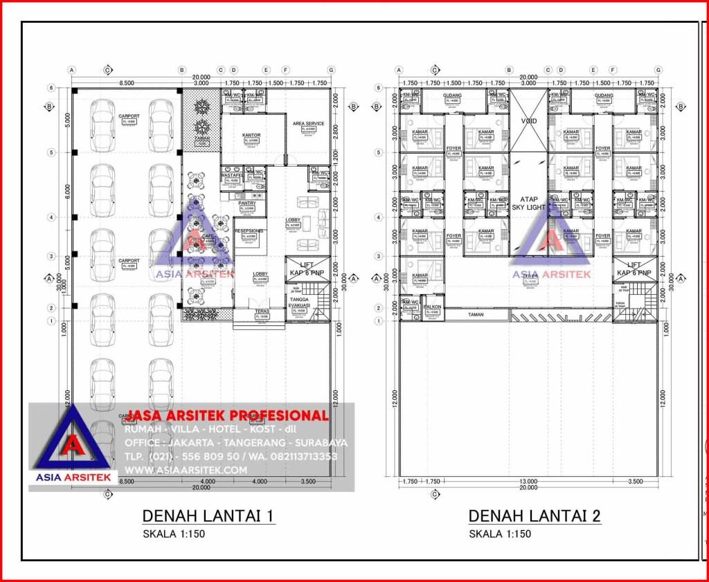Jasa Arsitek Desain Membangun Rumah Kost 4 Lantai 39 Kamar Di Bintara Bekasi