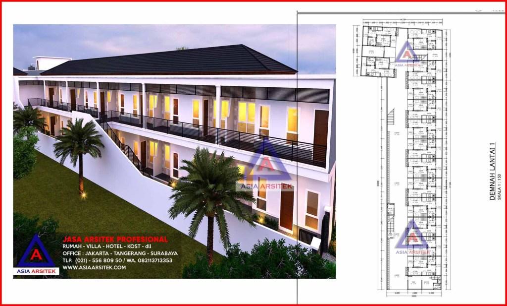 Jasa Desain Arsitek Murah Rumah Kost Kontrakan 2 Lantai Di Kelapa Dua Karawaci Tangerang