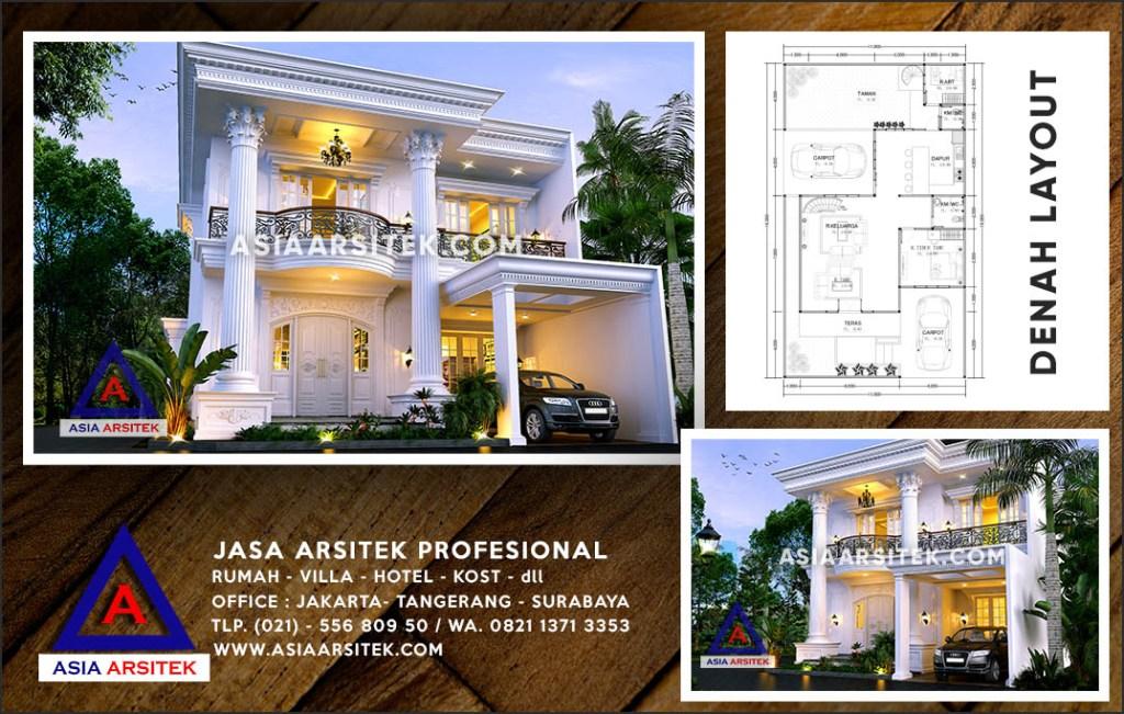 Jasa Arsitek Desain Gambar Rumah Mewah Di Duren Seribu Depok