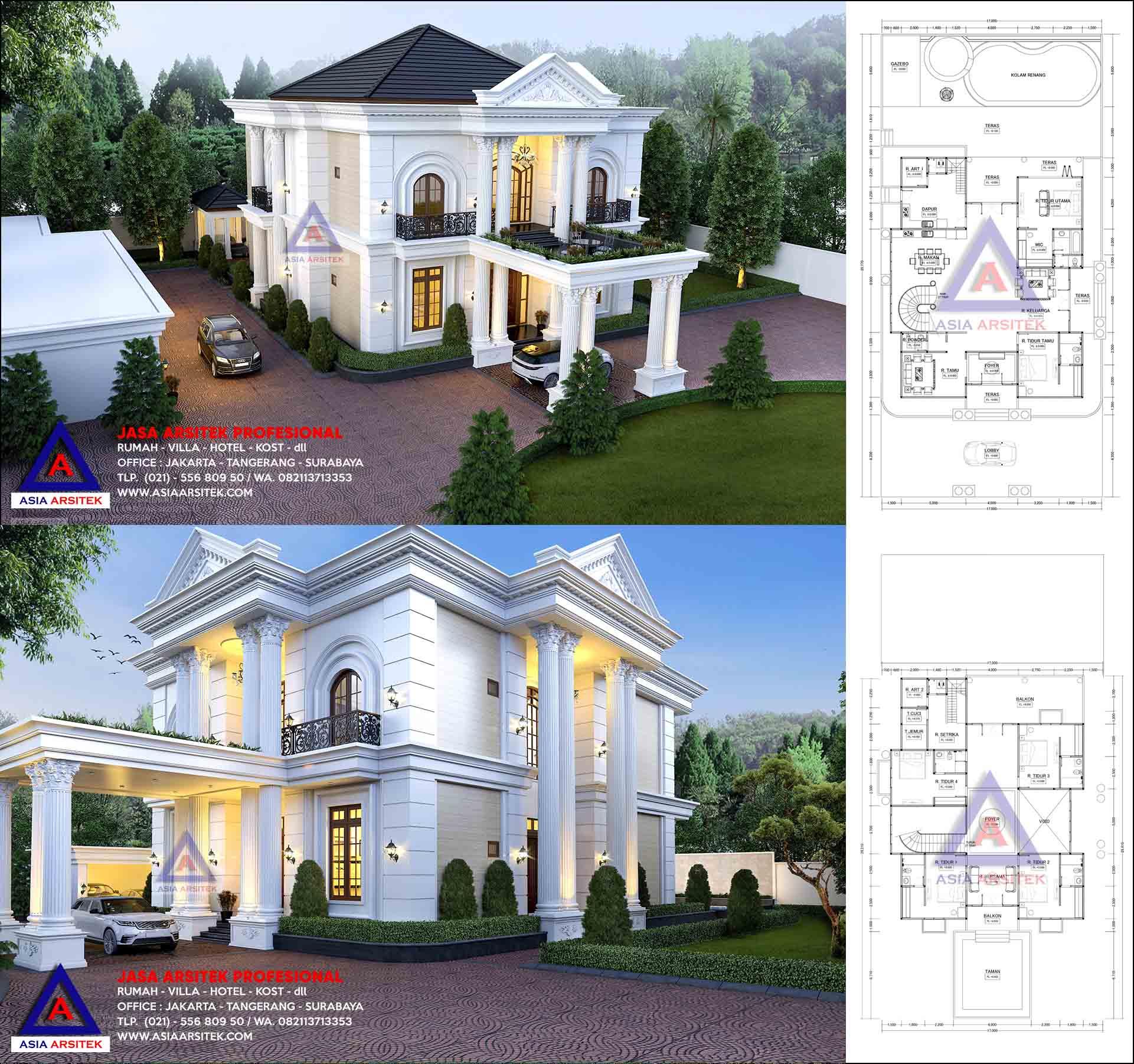 Jasa Arsitek Desain Rumah Mewah 2 Lantai Di Batam Kepulauan Riau