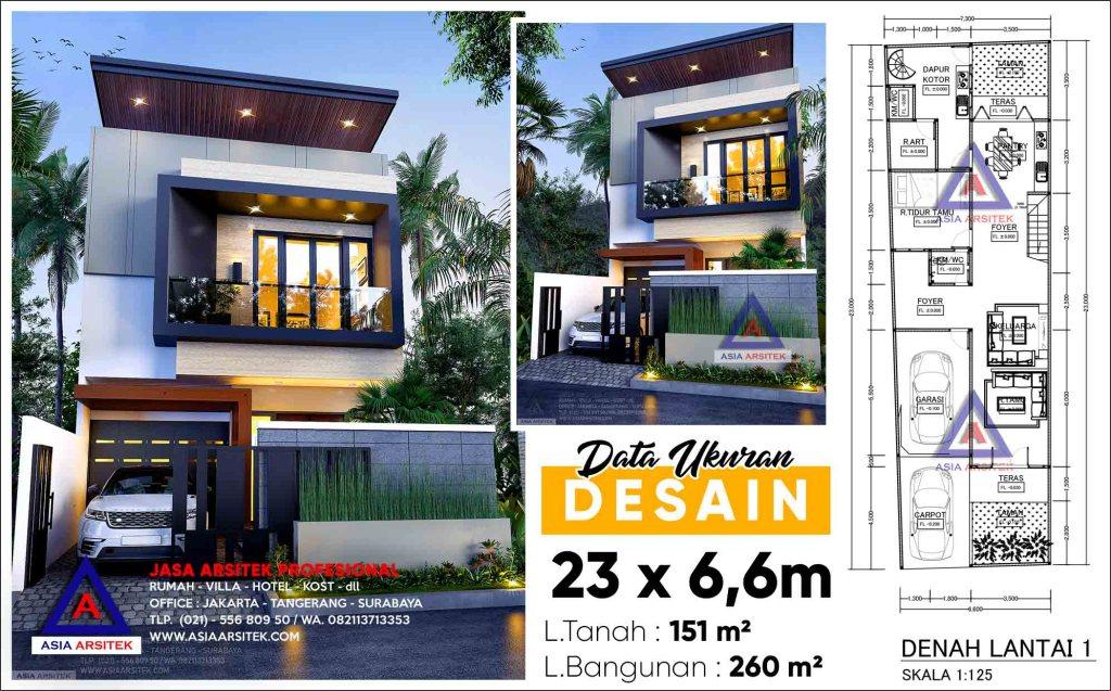 Jasa Arsitek Desain Rumah Minimalis 2 Lantai Kebon Jeruk Jakarta Barat