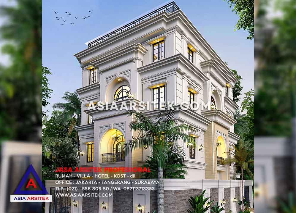 Jasa Desain Rumah Kantor Atau Rukan 5 Lantai Mewah Pak Deni Pik Pantai Indah Kapuk Jakarta Utara