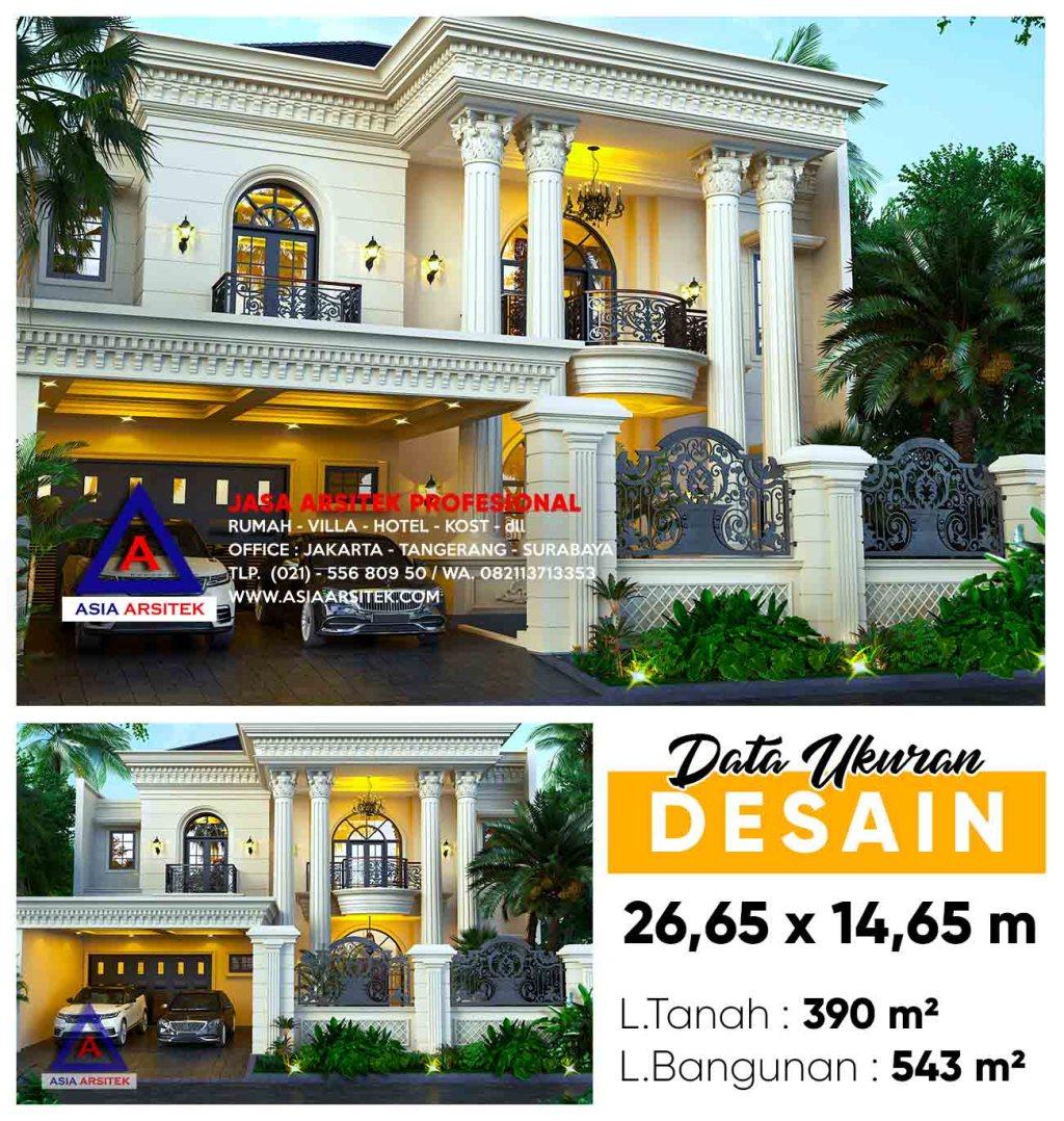 Jasa Gambar Desain Rumah Mewah BSD City Tangerang Selatan