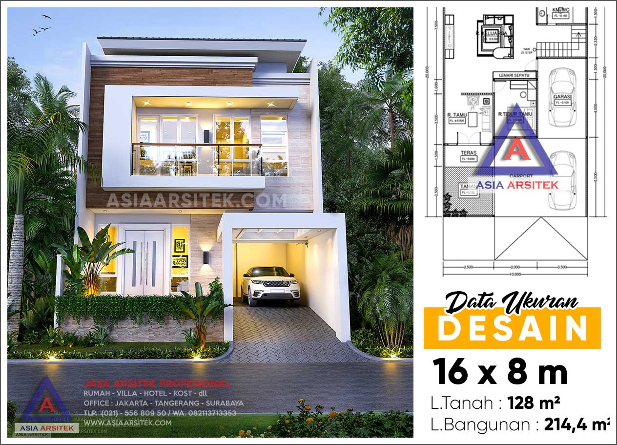Jasa Arsitek Desain Rumah Minimalis 2 Lantai Di Kebon Jeruk Jakarta