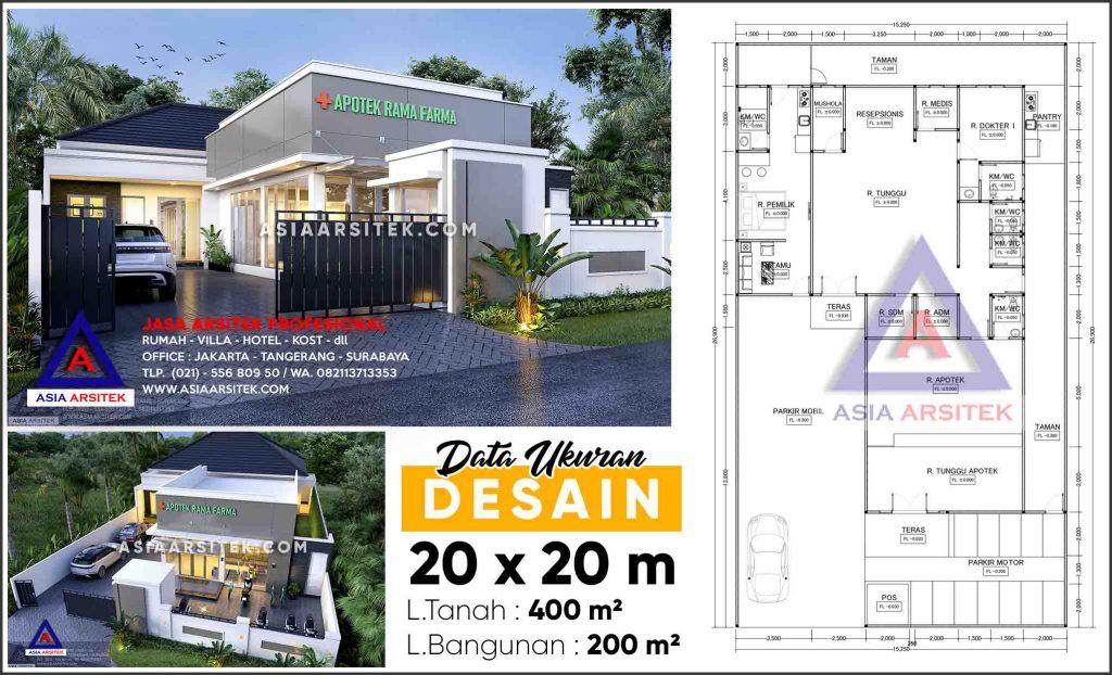 Jasa Arsitek Desain Rumah Sakit Klinik Apotek Cinambo Bandung
