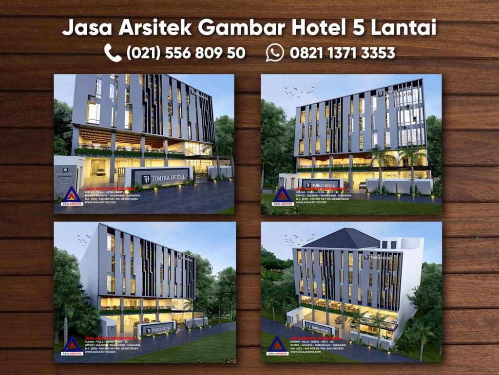 Jasa Arsitek Gambar Hotel 5 Lantai Minimalis Kota Timika Papua