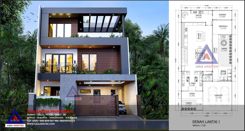 Jasa Desain Arsitek Gambar Rumah Minimalis 3 Lantai Di Menteng Dalam