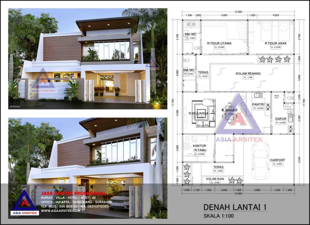 Jasa Desain Gambar Rumah Minimalis 2 Lantai Di Tebet Jakarta Selatan