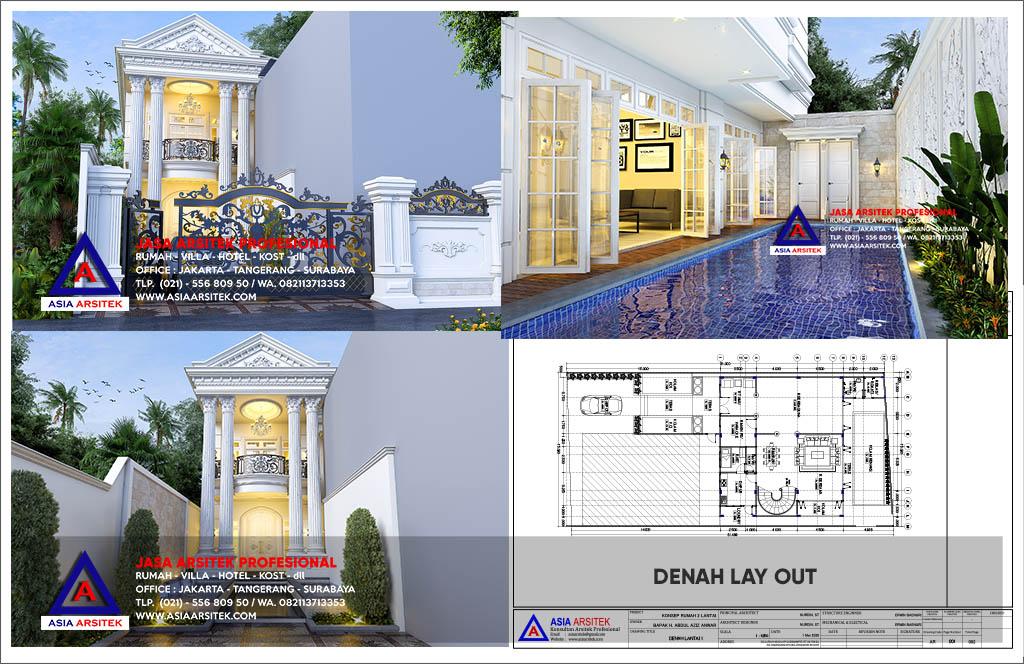 Jasa Desain Gambar Rumah Mewah Classic Modern Di Bojonggede Bogor Jawa Barat